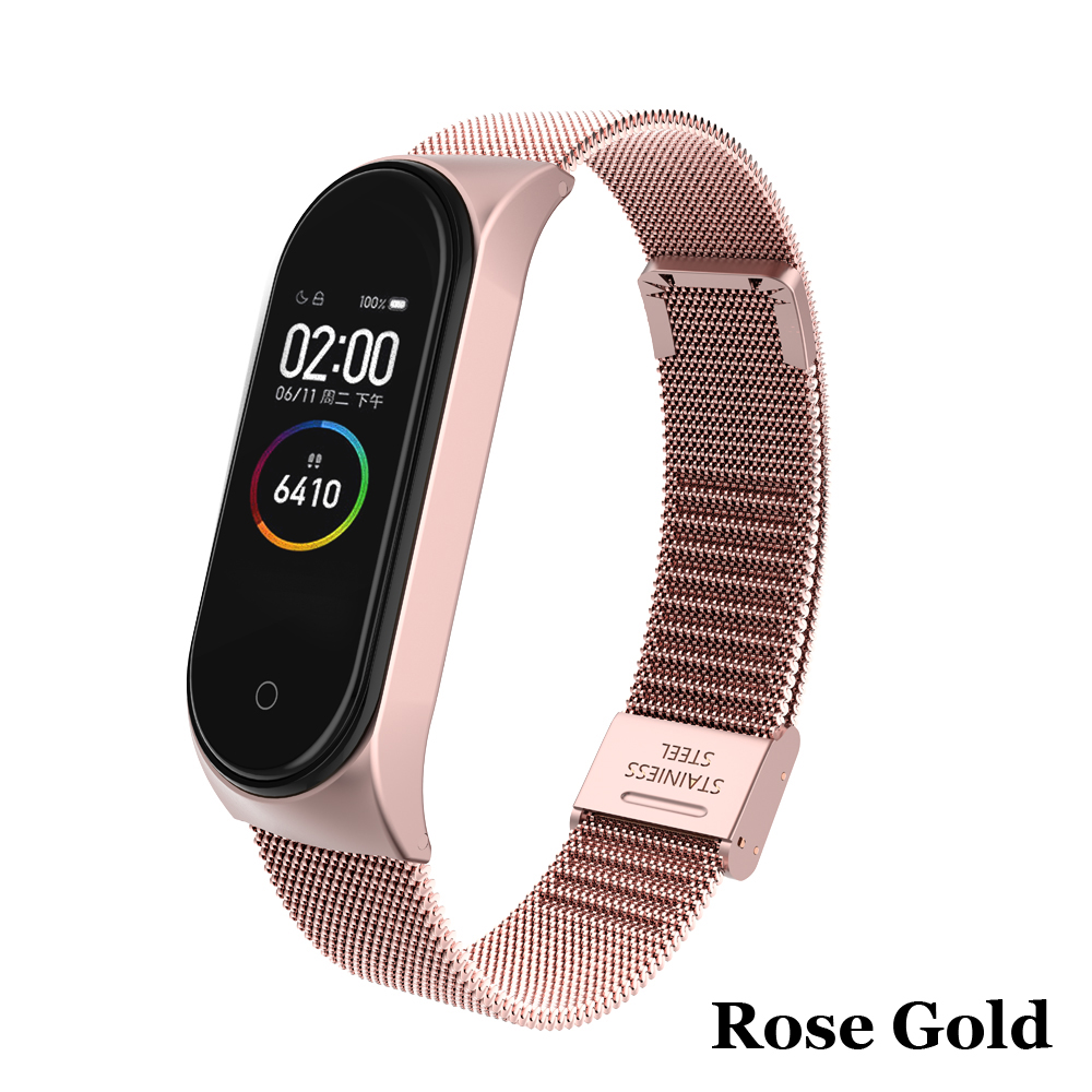 Image 4 - Metal Strap bracelet for Xiaomi Mi Band 4/3 Strap for Xiaomi Mi Band 4/3 Strap Stainless Steel MiBand 4/3 Wrist Band Belt-in Smart Accessories from Consumer Electronics