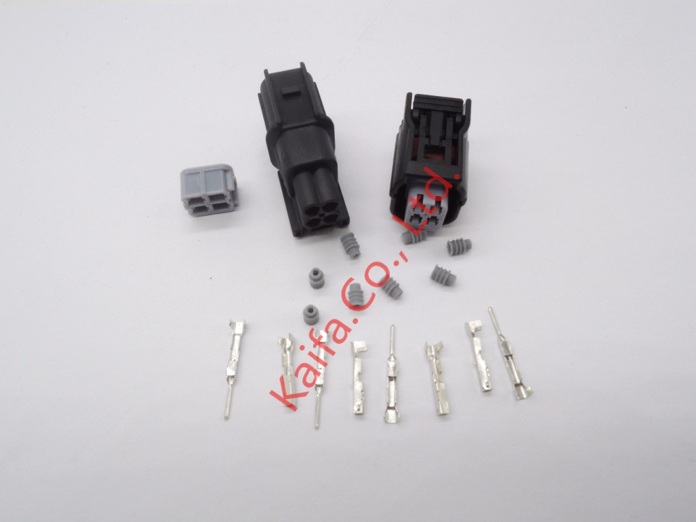 1 sets 4 pin 1.2mm Auto male Electrical waterproof  Wire connector plug,Auto oxygen sensor plug for  , car,truck black 50 sets 4 pin dj3041y 1 6 11 21 deutsch connectors dt04 4p dt06 4s automobile waterproof wire electrical connector plug