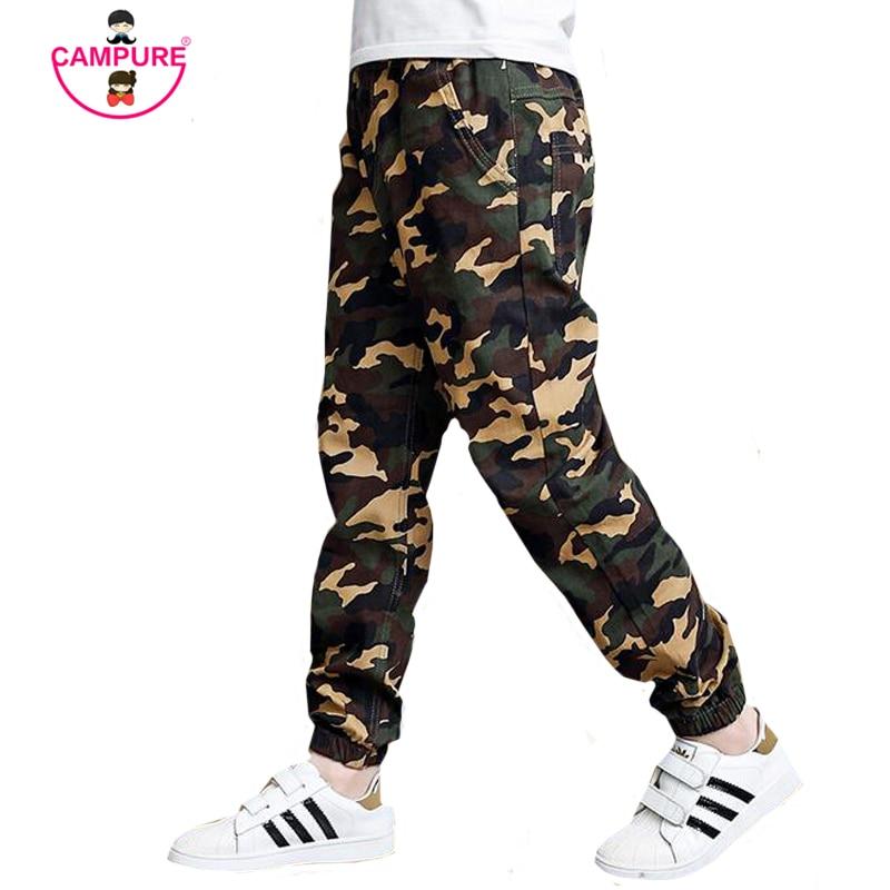 Teenage Boy Clothing Kids Camouflage Trousers Kids Pants Boys Trousers Camo Pants Boys Military Pants Big Size 4 6 8 10 12 14 16