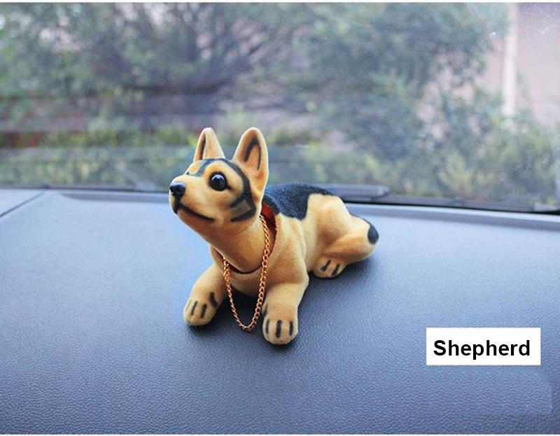 Ornamento Del Coche Accesorios De Carro Perro Que Mueve Cabeza Para El Tablero Ebay