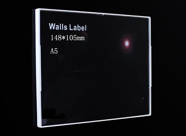 210*148mm A5 Indoor Wall Amount Sign Poster Frame Acrylic Label Holder Case Price Tag Name Card Display Rack Advertising Rack 29 7 21cm a4 black bottom t strong magnetic advertising sign card display stand acrylic desktop menu price label holder rack