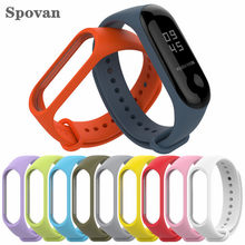 Mi Band 3/4 Strap Waterproof Replacement Silicone Wriststrap for Xiaomi Mi3 Mi4 Smart Bracelet Wrist Band Accessories(China)