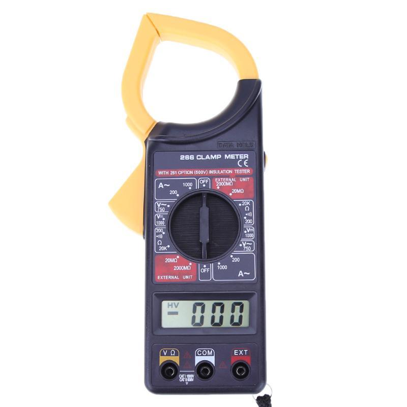 Digital Multimeter Amper Clamp Meter Current Clamp Pincers AC/DC Current Voltage Resistance Tester digital multimeter ms2108 amper clamp meter current clamp pincers ac dc current voltage capacitor resistance tester