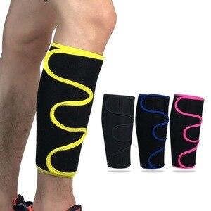 1 Uds calcetines de pierna de becerro calentadores de pierna elásticos ajustable gimnasio carrera baloncesto fútbol protección de la manga deportiva