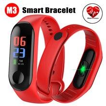 M3 смарт-браслет цветной сенсорный экран фитнес-трекер Смарт-часы спортивный браслет кровяное давление и пульсометр
