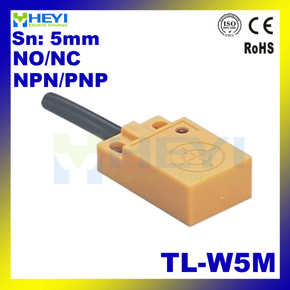 Non Shielded Inductive Proximity Sensor Switch Tl W5m Square Type 2 3 Wire Reed Wiring Diagram No Nc
