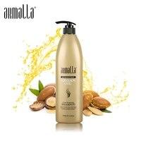 Горячая распродажа известный Armalla Professional 1000 мл марокканское аргановое масло ясно увлажняющий шампунь лечения сглаживания Уход Бесплатная ...