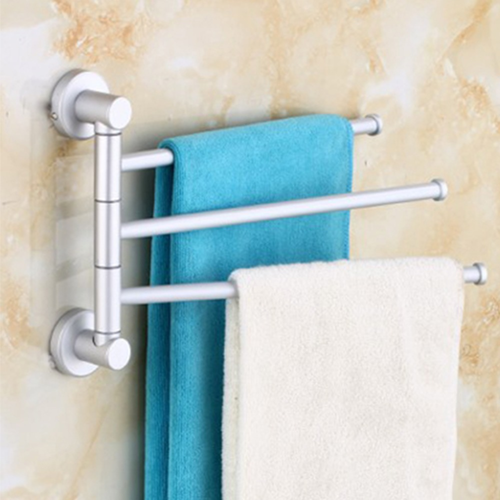 Hot Rotation Towel Rack Aluminium Wall Mounted Bathroom Towel Rail ...