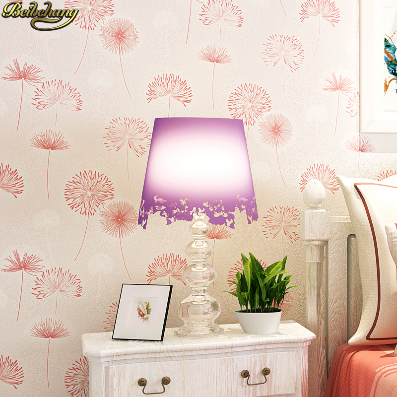 beibehang papel de parede 3D Pastoral dandelion Wallpaper Roll Children's room wall papers home decor wallpapers for living room black dandelion wall sticker wallpaper page 3