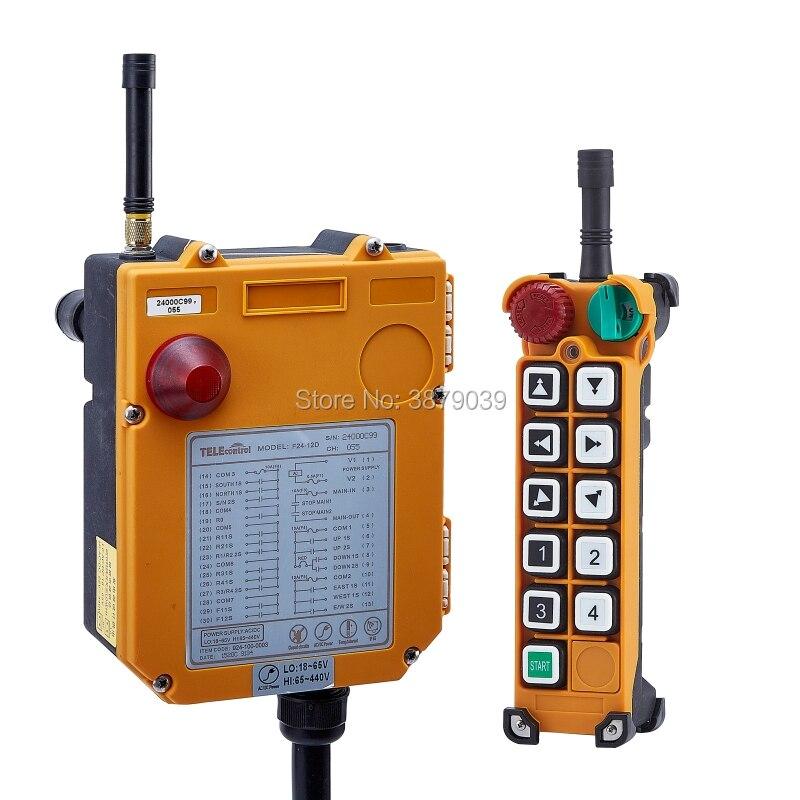 Nice UTING CE FCC F24-10D Radio sans fil industrielle Double vitesse 10 boutons télécommande (1 émetteur + 1 récepteur) pour grue - 2