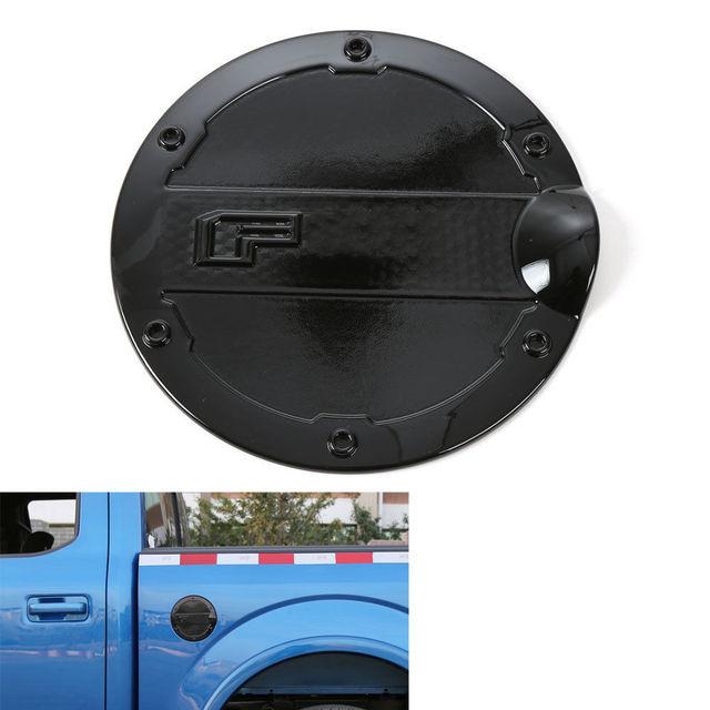 BBQ@FUKA 1x Auto Black Gas Door Cover Fuel Tank Oil Cap Trim ABS Car
