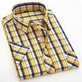 2016 new arrival Shirt summer men's commercial casual short-sleeve fashion super large plus size XS S M L XL 2XL 7XL