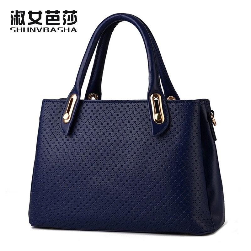 SNBS 100% Genuine leather Women handbags 2017 New Korean female stereotypes fash