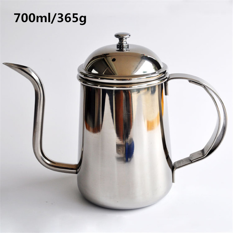 700ML highquality stainless steel fine mouth pot Creative kettle coffee percolator and tea pot kitchen tools