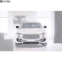 Car body kit Carbon Fiber front bumper lip rear diffuser side skirts rear spoiler mirror cover For Maserati Levante 2016 цена