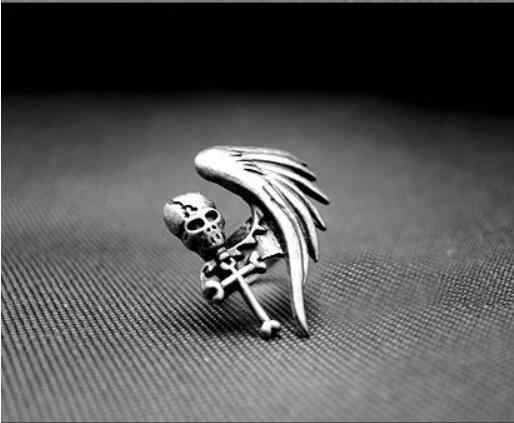 ใหม่สแตนเลสสตีล Vintage Nobel Palace แหวนสำหรับชายหญิง Hollow retro Skull แหวนจัดส่งฟรี