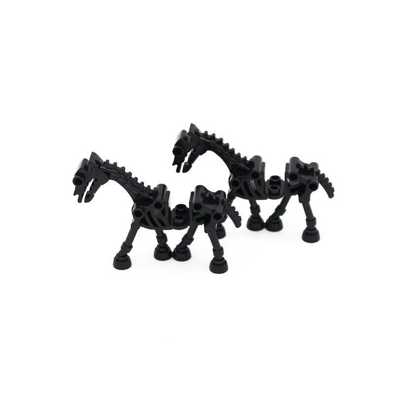 Купить с кэшбэком Bone Horse  Building Blocks DIY Creative Building  Bricks Toys for Children Educational Bricks Kids jungle Animal