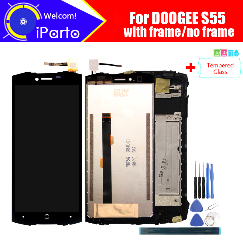 5.5 inch Doogee S55 LCD Display+Touch Screen Digitizer Assembly 100% Original New LCD+Touch Digitizer for S55+Tools5.5 inch Doogee S55 LCD Display+Touch Screen Digitizer Assembly 100% Original New LCD+Touch Digitizer for S55+Tools