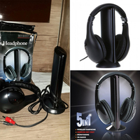 New 5 In 1 Wireless Headphones Watch Tv Earphone Cordless Headset For MP3 PC Stereo TV