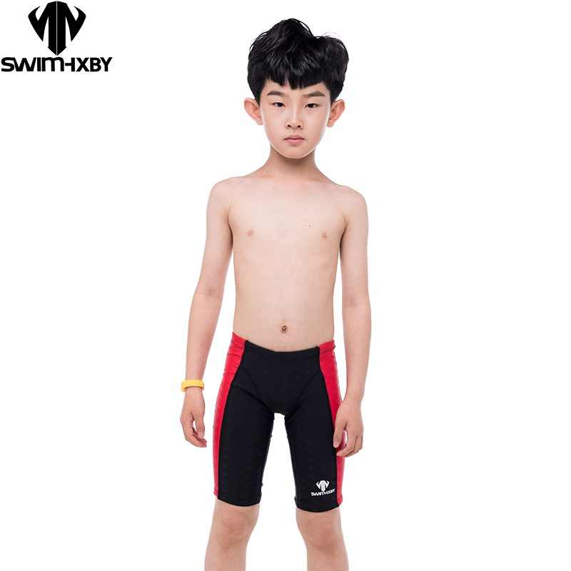 25e8b3ec0a95a HXBY Swimming Trunks Boys Swimwear Training Children's Swimsuit For Boy  Baby Professional Competition Men's Swimming Trunks