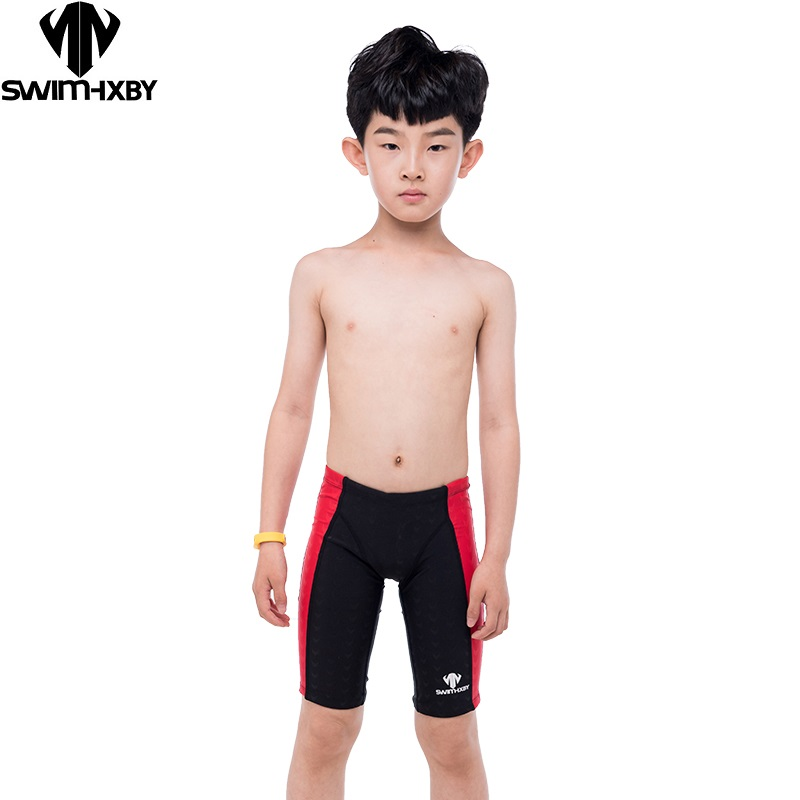 eff6fb2c35 HXBY Swimming Trunks Boys Swimwear Training Children's Swimsuit For Boy  Baby Professional Competition Men's Swimming Trunks 5XL-in Body Suits from  Sports ...
