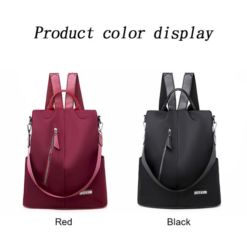 Women Anti-theft Backpack Waterproof Fabric Large Female Shoulder Bag Large Capacity Simple Style Casual Mochila Travel