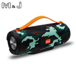 Image 2 - M & J E13 ลำโพง Bluetooth ลำโพงไร้สายสเตอริโอแบบพกพาเสียงเบส 10 W ระบบ MP3 เสียงเพลง AUX สำหรับ Android iphone Pc