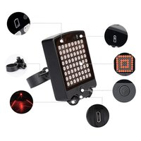 3.7v 3 modes Rechargeable Bicycle Rear Tail Light Wireless remote control turn signal Laser tail light Bicycle Warning Light