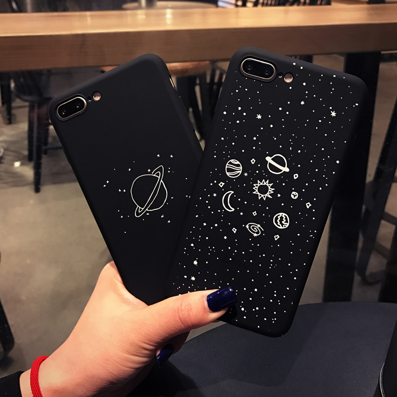 Cartoon Planet Moon Sun Stars Case For iphone 7 Case For iphone 7 6 6S Plus Universe Series Phone Cases Hard PC Back Cover