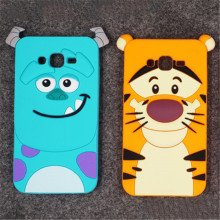 For Samsung Galaxy J1 J1Ace J1Mini J2 J3 J5 J7 A3 A5 A7 Cover Animal Cartoon Monsters Sulley Tiger Alice Cat Silicone Phone Case