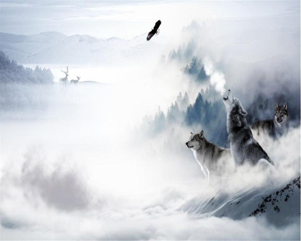 Must see Wallpaper Mountain Simple - Beibehang-Custom-wallpaper-modern-simple-TV-background-wall-wolf-totem-snow-mountain-elk-home-decoration-mural  Trends_526183.jpg