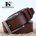 Mens de cuero de vaca genuino correa masculina cinturones de lujo para los hombres nuevo clásico de la moda correa de hebilla de la vendimia negro marrón bronceado PD4033