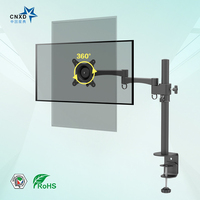 CNXD Fully Adjustable Height Adjustable Tilting Pivot Single Sight Single Monitor Easy Stand