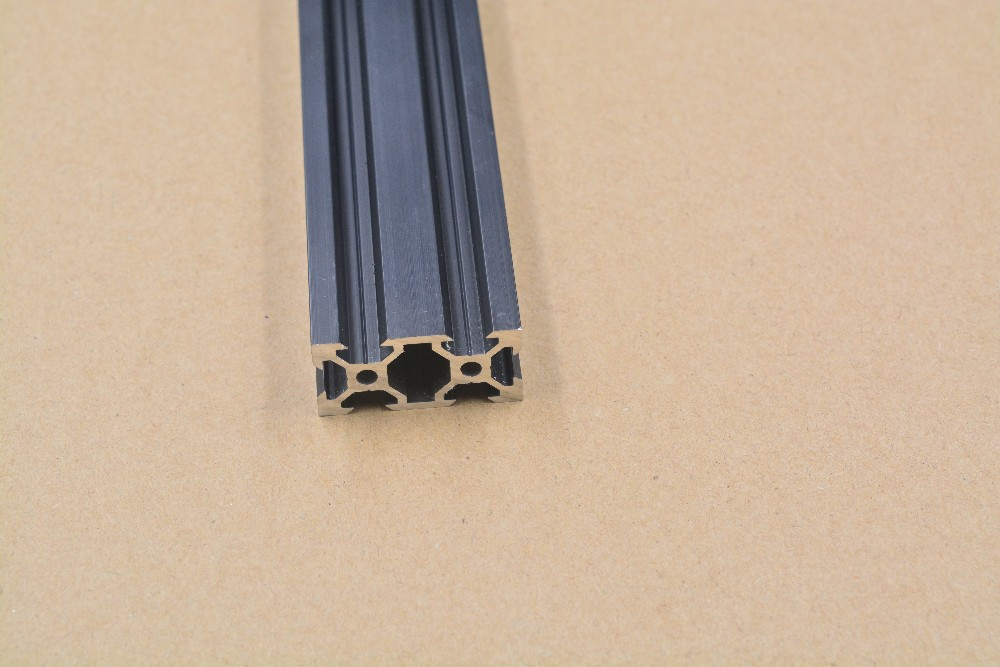 2040 Aluminum Extrusion Profile European Standard  V-slot Black Length 350mm   Workbench 1pcs