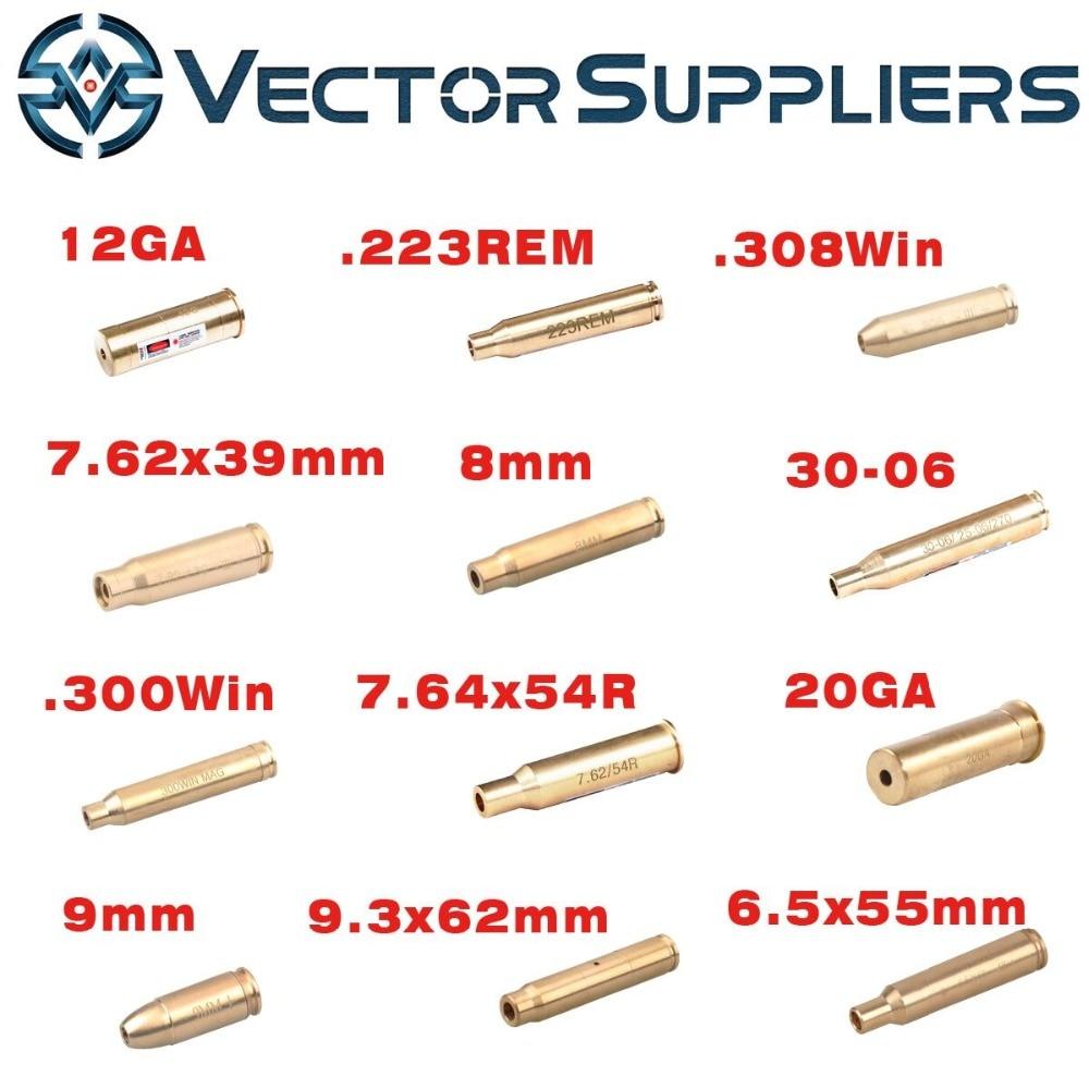 12GA 9mm. 308. 223 6.5x55 Laser Della Cartuccia Foro Sighter Collimatore Boresighter Sight fit Airsoft/Reale AK AR 15, pistola Shotgun