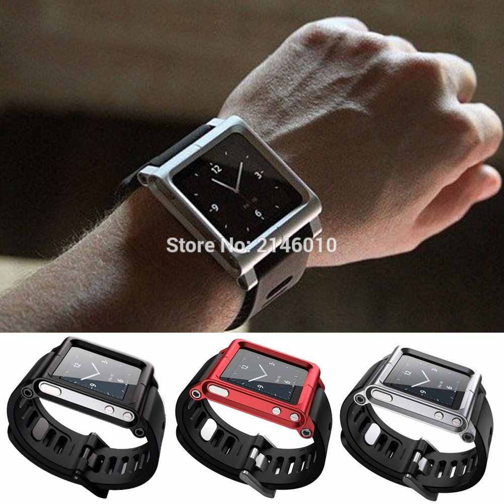 Multi-Touch Watch Band Kit Tali Jam untuk IPod Nano 6 6th 6G Aluminium Metal Case