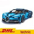 (In azione) 20086B 4031 Pcs Serie Technic Supercar Bugatti Chiron Modello Building Blocks Mattoni Giocattolo Compatibile LegoING 42083