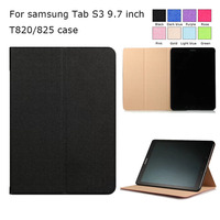 For Samsung Galaxy Tab S3 Case Ultra Thin 3 Fold PU Leather Magnetic Cover Case For