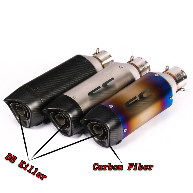 Universal Motorcycle Exhaust Escape Moto Muffler Pipe With Removable DB Killer Cb650f Crf 230 Gsr 600 750 Msx125 Nc750x S1000xr