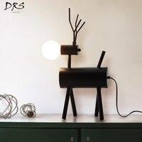 Table Lamp for Office Wedding Living Room Decoration Retro Deer Lampada Studio Long Desk Lamp Art Deco Lamp Design Led