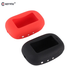 KEYYOU Russian Version B92 Silicone Case Cover for Starline B93/B94/B62/B64 LCD Remote Two Way Car Alarm System