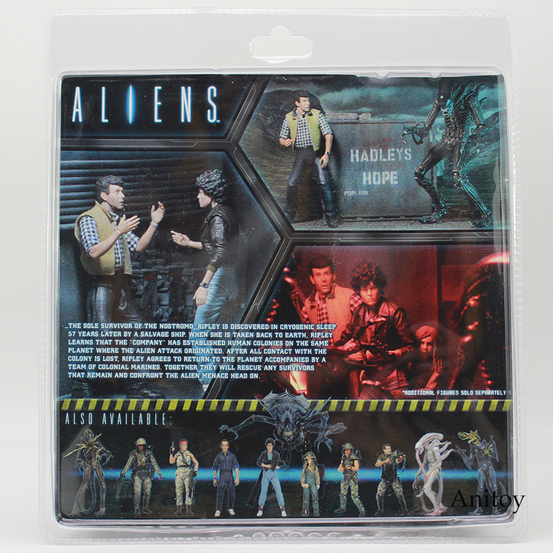NECA ALIENS CARTER J BURKE VS XENOMORPH WARRIOR PVC Action Figure Collectible Model Toy 2-pack 1