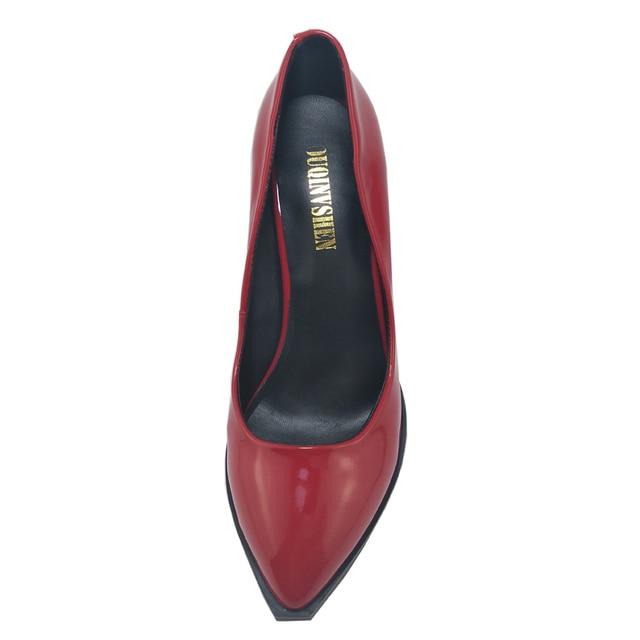 OUQINVSHEN Plum Blossom Appliques Women Pumps High Heels Casual Fashion Ladies Pumps Bright skin Elegant Women High Heel Shoes