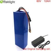 New arrival 60v li ion battery pack 60v 12ah battery pack 1000w bafang electric bike kit with bms