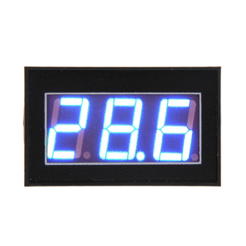 Electrical Instruments V56d Dc3.0-30v Voltmeter Waterproof Digital Volt Meter Gauge Blue Led Digital Display Potting Waterproof Shock-Resistant And Antimagnetic Voltage Meters