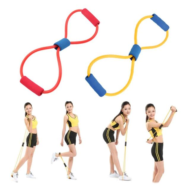 1Pcs Resistance 8 Type Muscle Chest Expander Rope Workout Fitness Exercise Yoga Tube Sports Pulling Exerciser