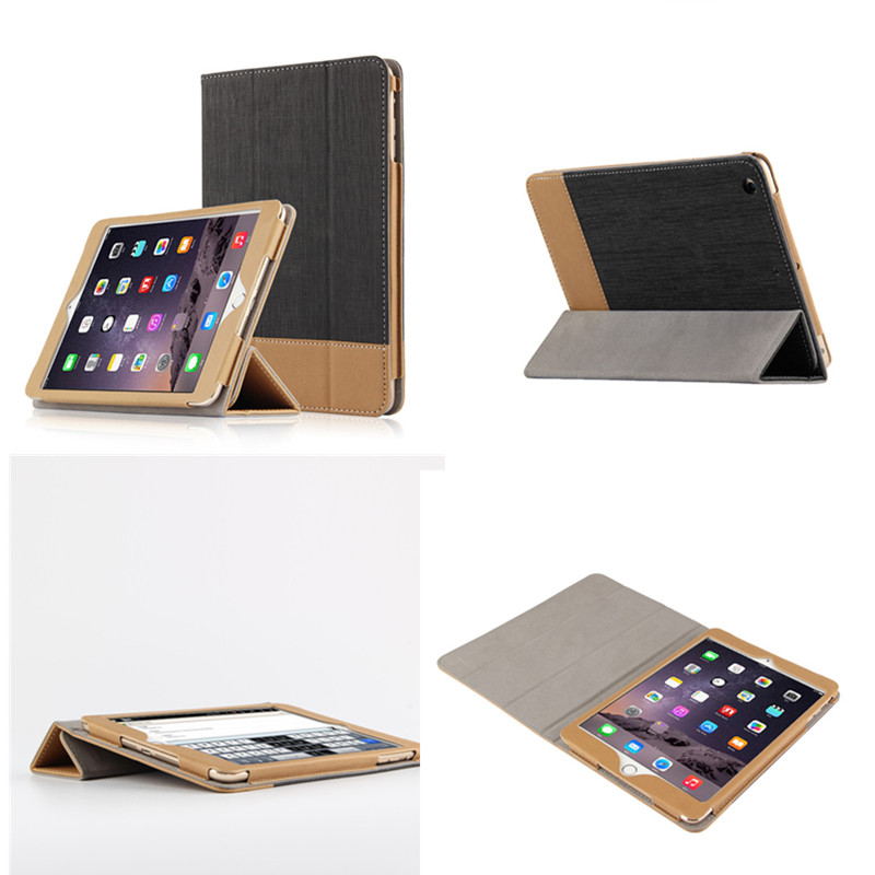 SD PU Leather Slim Stand Book Smart Case For Apple iPad mini2 mini3 Stitching Style Cover For iPad mini 1 2 3  7.9 '' Film gift foldable pu leather pad cover with flower girl driving style inlaid diamond support stand for ipad mini 3