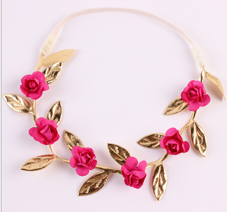 Till salu 1 st Rose Flower Bohemian Floral Headband Blommor Party - Babykläder