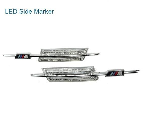 CYAN sol baie clair fumé LED marqueur latéral voiture feu latéral LED pour BMW E46 4D 2002-2005 avec (out) IIIM logo