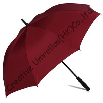 Straight car golf umbrellas.fiberglass shaft and ribs,auto open,windproof,pongee fabric golf,anti satic,anti electricity